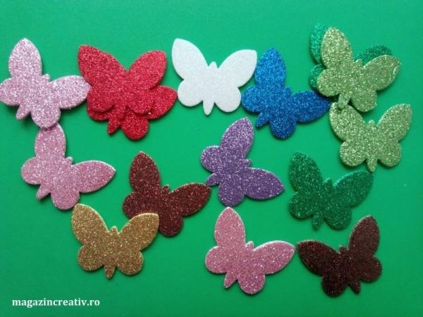 24 fluturi glitter AA
