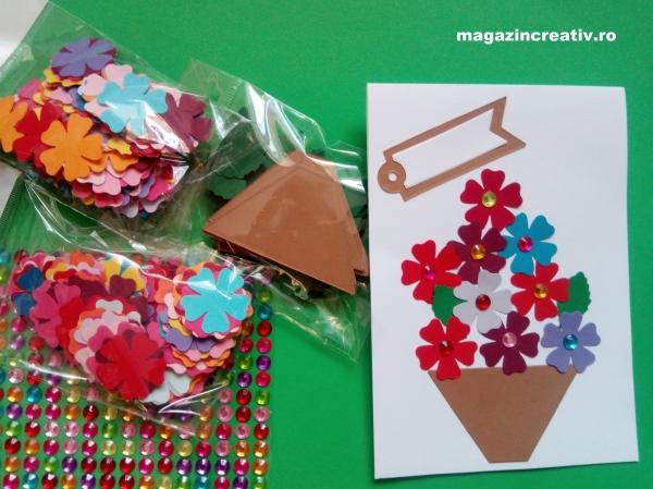 Flori pentru mama - set confecţionare 22 de felicitări