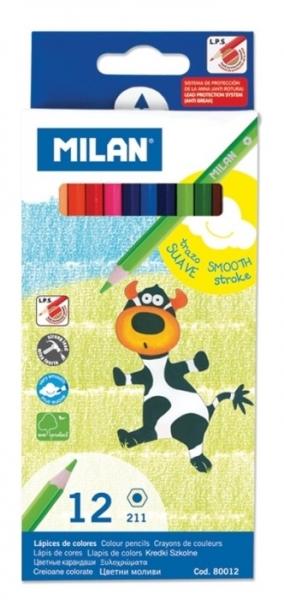 Creion color 12 culori hexagonal MILAN