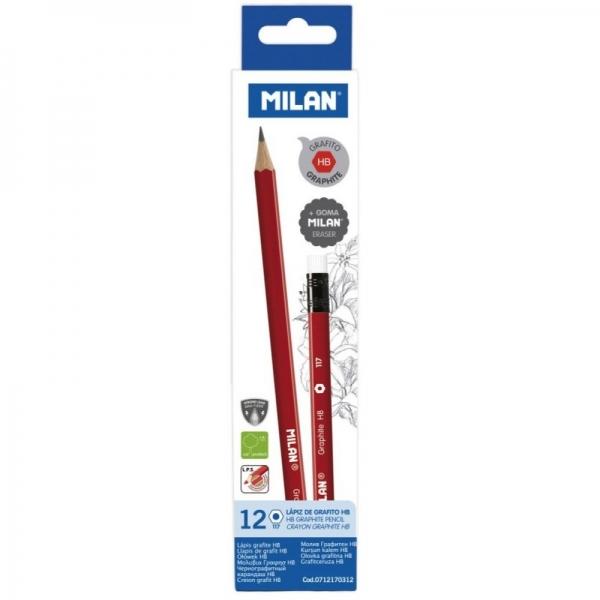 Creion grafit cu radieră