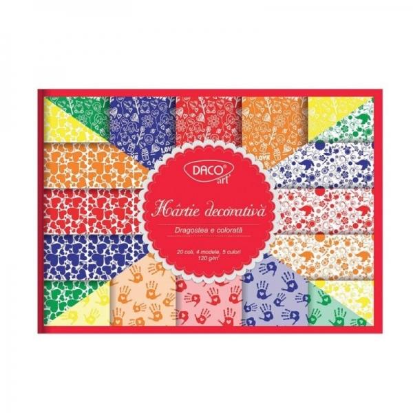 Hârtie decorativă Dragostea e colorată