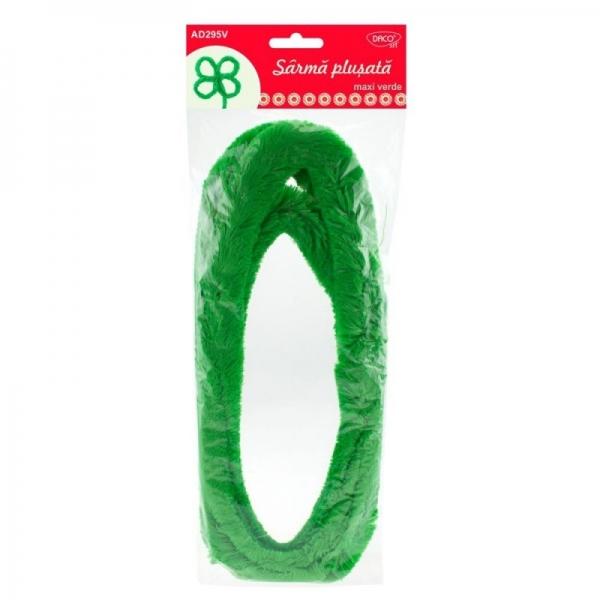 Sârmă pluşată maxi verde