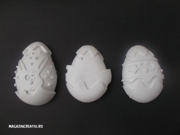 Set 3 ouă mari Paști