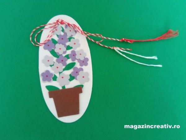 Set confecţionare 30 mărţisoare Ghiveci cu flori violet