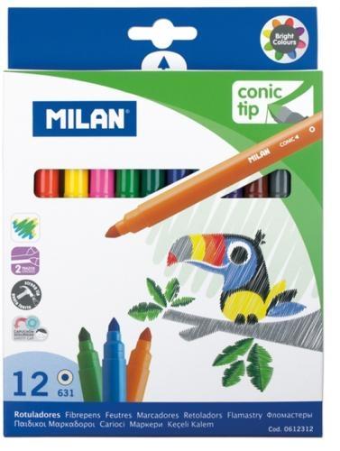 Carioca 12 culori vârf conic Milan 0