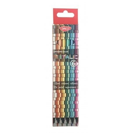 Creion color 6 culori metalic DACO 0