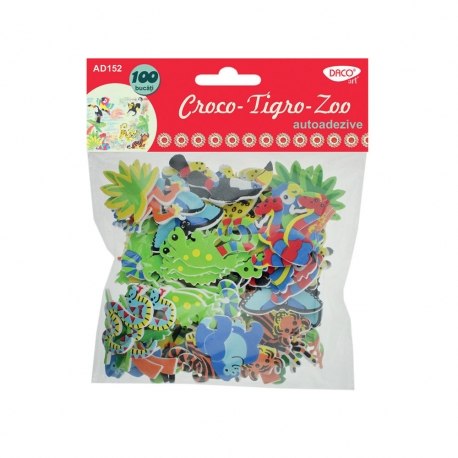 Croco-Tigro-Zoo - animale spumă autoadezivă 0